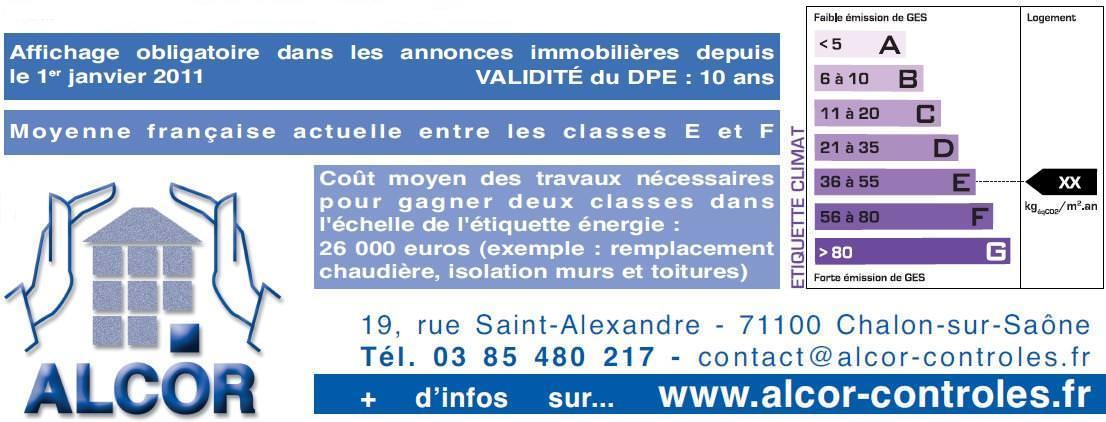 Affichage et moyenne française classement DPE