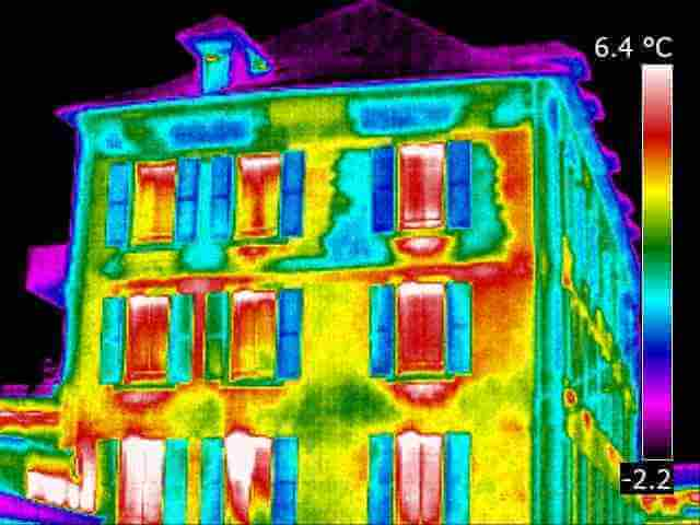 Thermographie infrarouge, maison, appartement